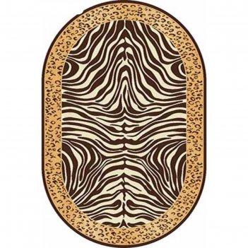 Овальный ковёр da vinci d079, 250 х 400 см, цвет brown
