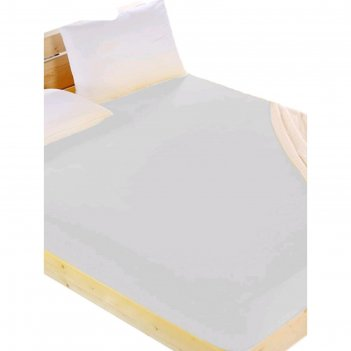 Простыня на резинке, размер 200x200 см, поплин, бежевый