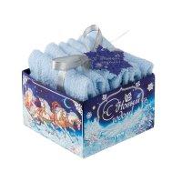 Наб. полотенец collorista с новым годом и рождеством! 30х30 см-3 шт, 100%
