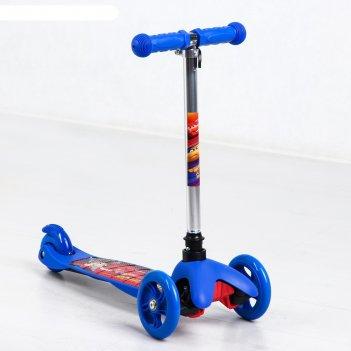 Самокат детский стальной тачки, колеса pu 120/80 мм, abec 7