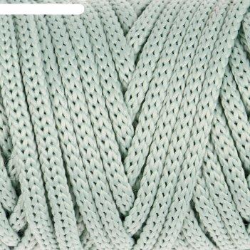Шнур для рукоделия полиэфирный софтино 4 мм, 50м/160гр (серо-зеленый)