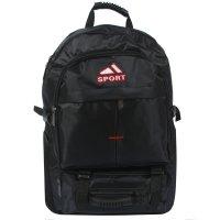 Рюкзак тур. спорт, 37*15*50см, трансформер,1 отд, 3 н/ кармана, черный