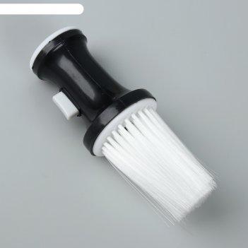Щётка-сметка для удаления волос, цвет чёрный/белый