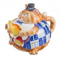 Заварочный чайник кошка 1000 мл. (кор=12шт.)