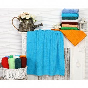 Полотенце махровое, 40х70 см, цвет бирюза