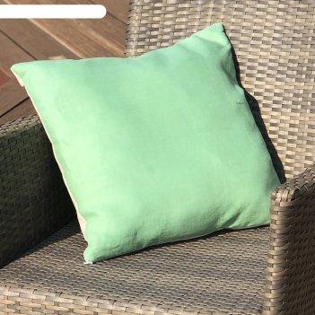 Подушка декоративная, размер 45 x 45 см, цвет мятный